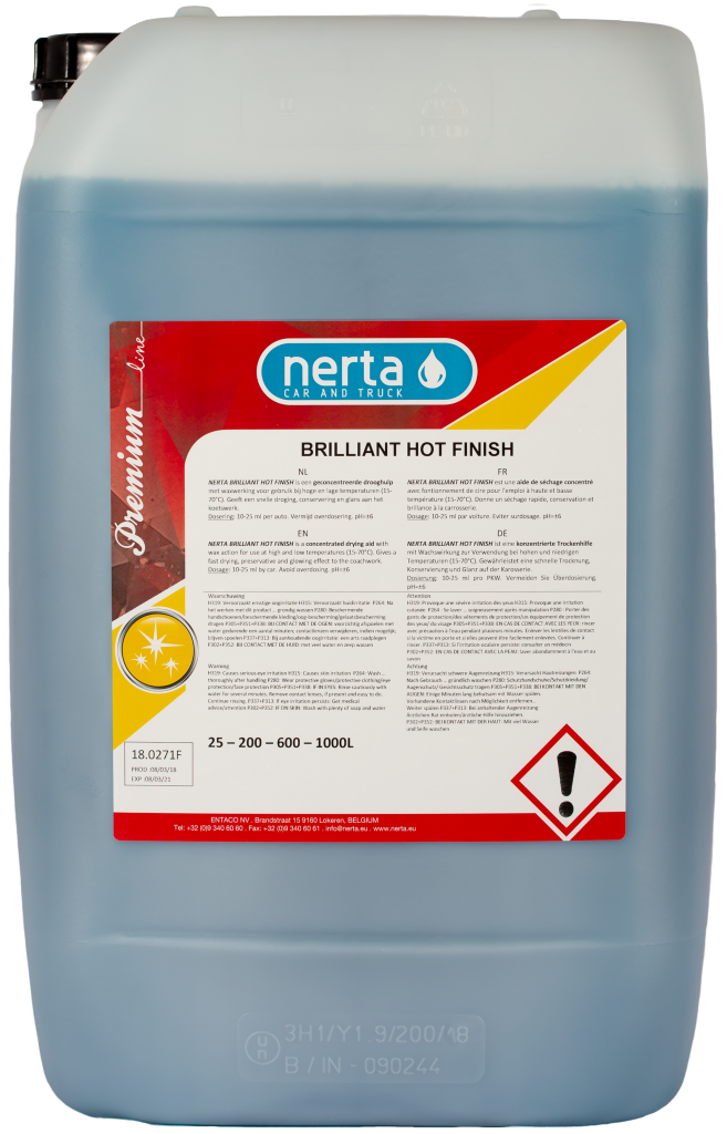 brilliant hot finish, nerta